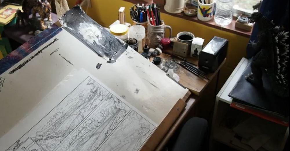Where the magic happened... Justine's desk!