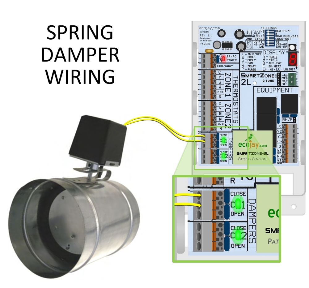 zoningsupply com zone control spring zone damper rh zoningsupply com hvac damper wiring HVAC Manual Dampers
