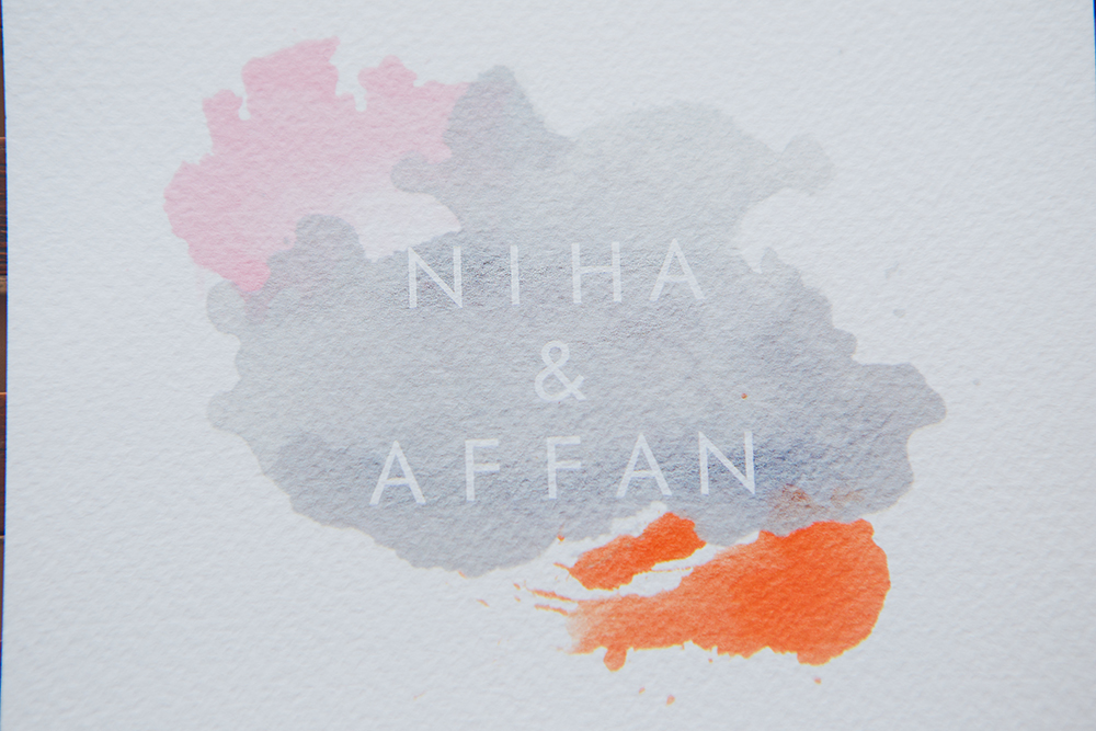Details of Niha & Affan wedding invite. Isn't it gorgeous ? ! The couple designed the invites themselves.