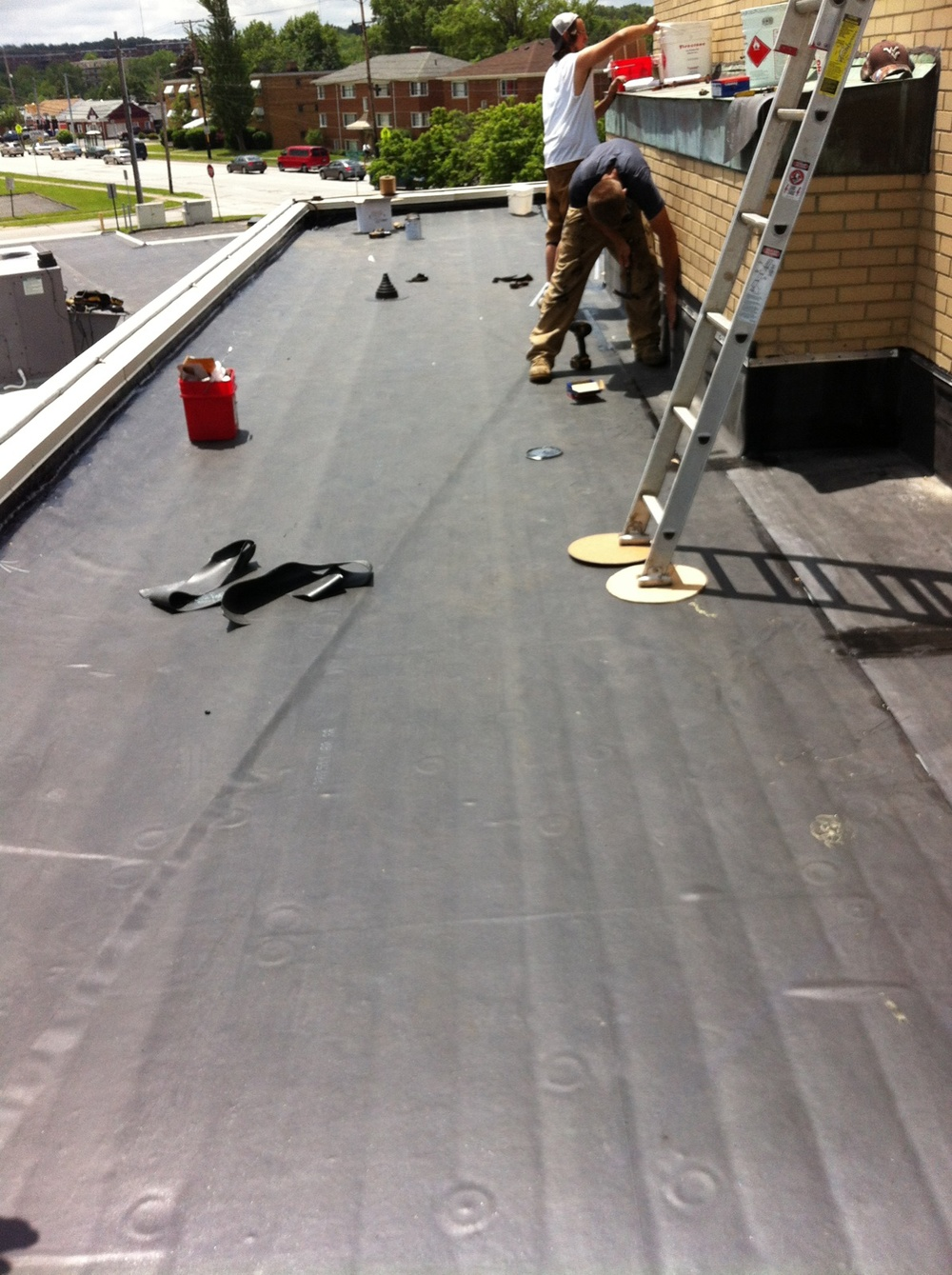 Installation of new EPDM roof at St Mary's church in Parma