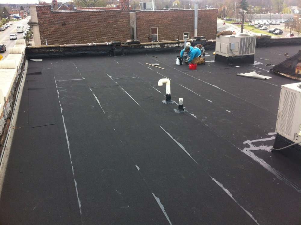 New modified rubber roof in Bedford