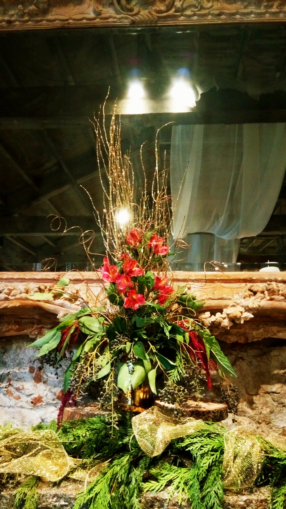 Wedding Floral Design Miners Foundry Nevada City, Nevada County, South Yuba River