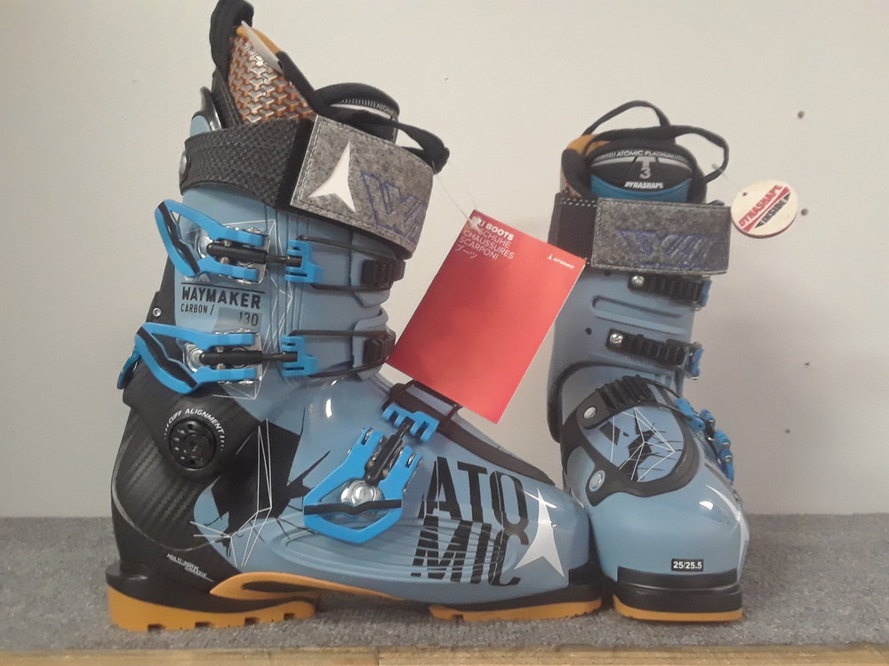 These 2016 Atomic Waymaker's still have that new boot smell! With a flex rating of 130 and WTR capabilities you'll be able to charge just about any line. MSRP is listed at $700 but we have them at $349. The size is 25.