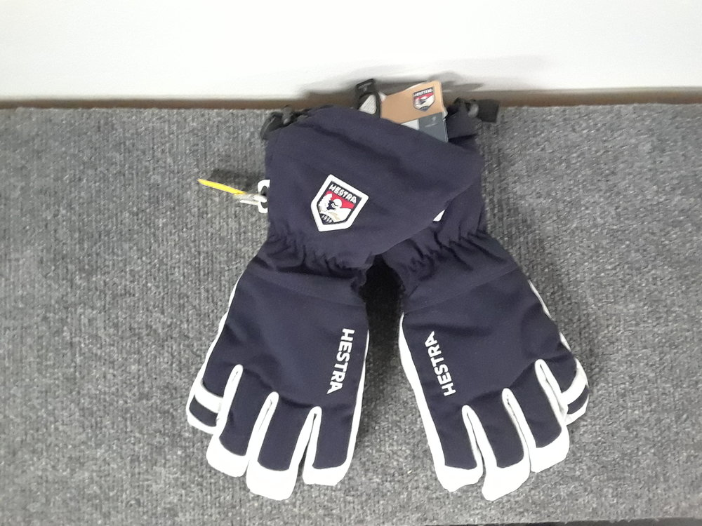 Keep your hands warm this winter with Heastra's Alpine Pro Glove featuring army leather and a removable fleece liner! MSRP is listed at $130 and we have them brand new priced at $69. The size is a 9.