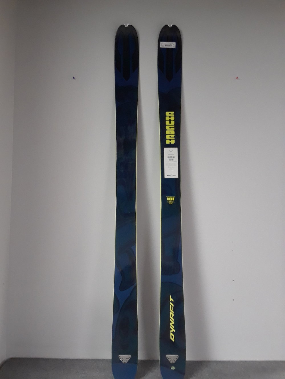 """Here's something a little beefier from Dynafit! The Chugach 107 is marketed as a """"freeride alpine"""" ski, basically meaning it's a touring ski made with the downhill in mind. MSRP is listed at $800 but we have you covered at $250! The size is a 181."""