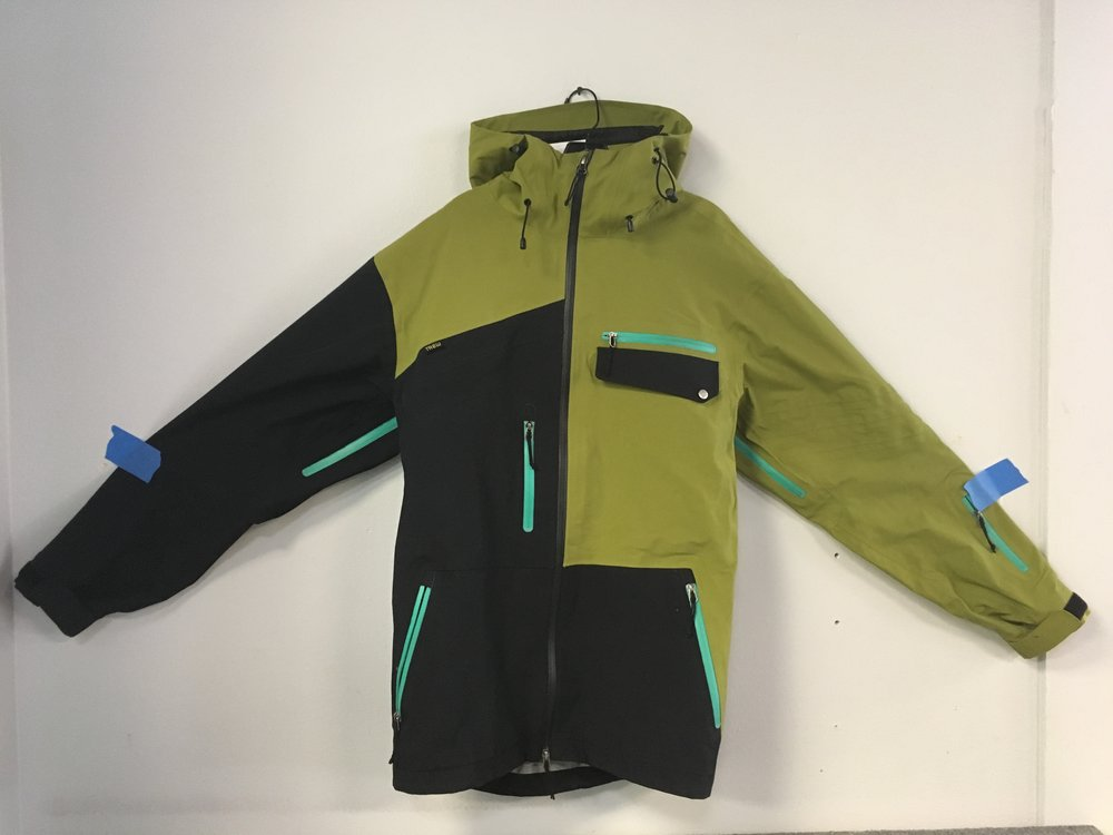 Do you have the funk? Well now you can with Trew's PowFunk 3 layer waterproof jacket. This jacket is bombproof and rivals Gore-Tex Pro fabric! Retail is listed at $400 but we got you at $169. The size is a men's large.
