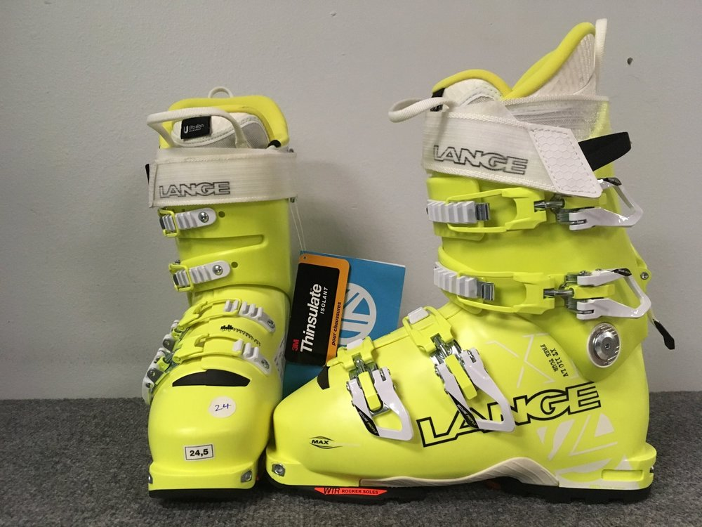 Get the best of both worlds with Lange's XT 110 Free Tours! Features include the Power V-Lock 2.0 WTR mode, moldable liner, and a WTR sole that is compatible with tech and AT bindings. Retail is listed at $650 but we can get you out there for $349. The size is a 24.