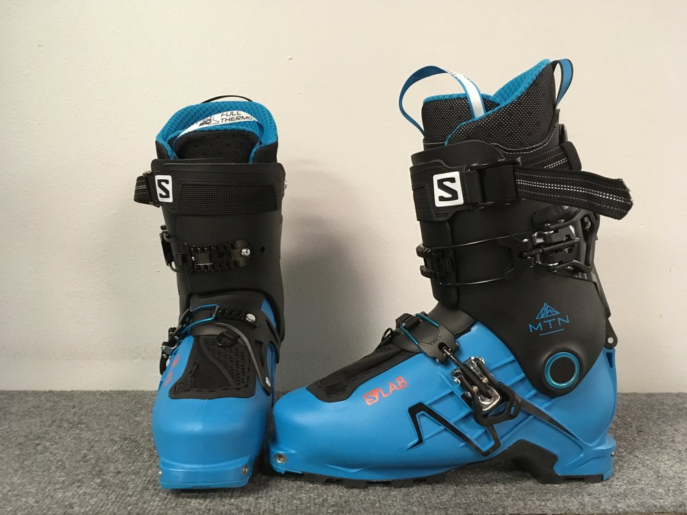 Tired of the trade off between lightweight uphill performance and downhill aggressiveness? Salomon has answered your problems with the 2018 S/Lab Mtn Ski Boot. Combining a 120 flex stiffness with a 63 degree rotation in walk mode, the S/Lab is marketed as quiver killing backcountry boot. Retail for these puppies are listed at $800 but we can get you touring for $469! The size is a 27.