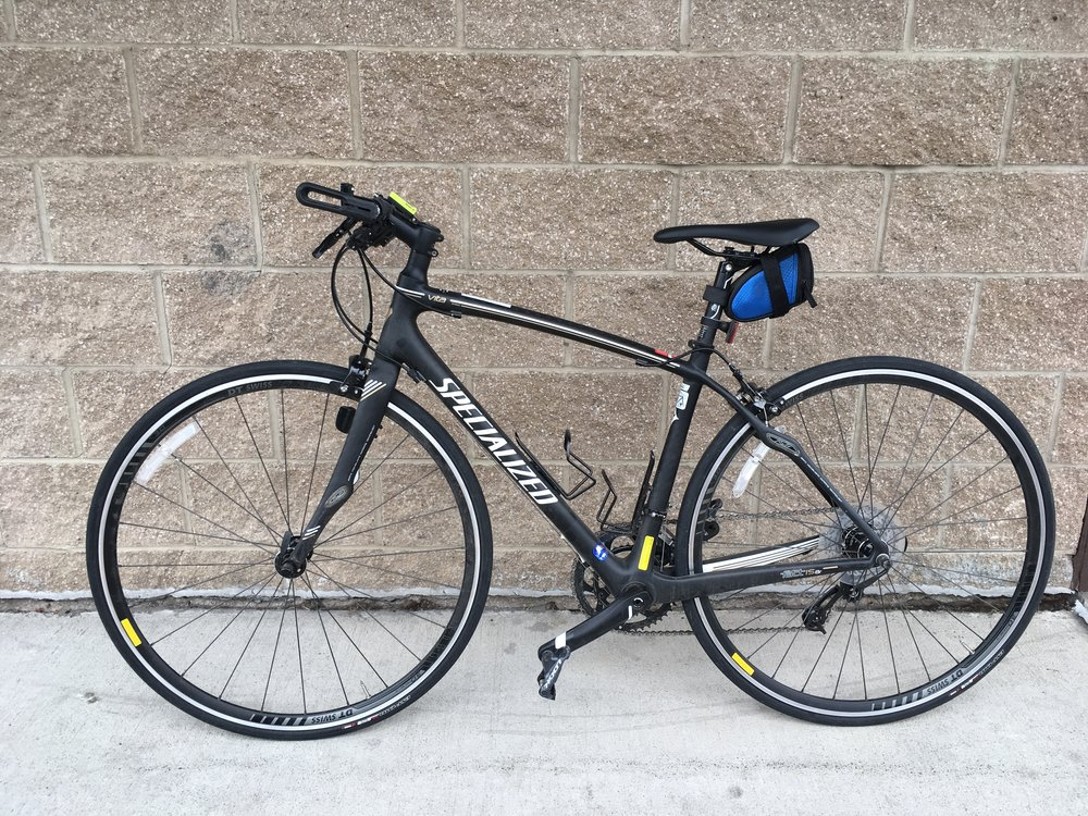 "The Vita Limited enjoys the pure speed of a full-carbon road bike with the comfort and confidence that comes from a flat bar, for exercising, commuting, or hitting the open road. Retail on the Vita is listed at $2,200 but we can get you cruising for $899! The size is 51""."