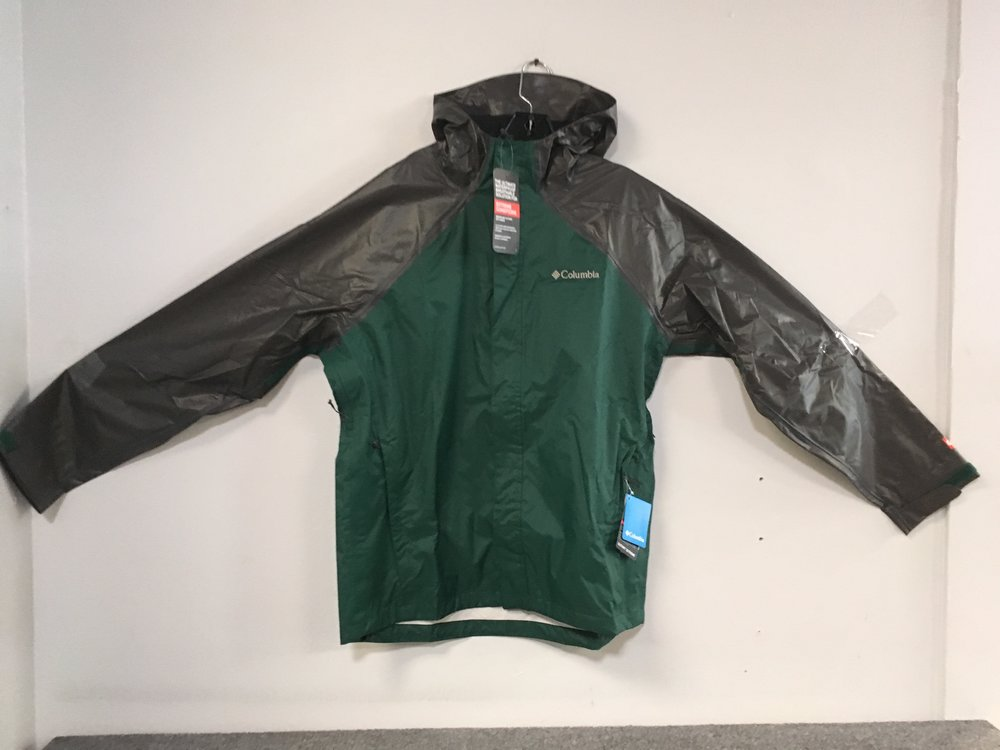 Waterproof, breathable, and fully seam-sealed, Columbia's OutDry Hybrid Jacket offers serious protection against the elements. Retail for the jacket is listed at $100 but we can keep you dry for $59! The size is a men's large.