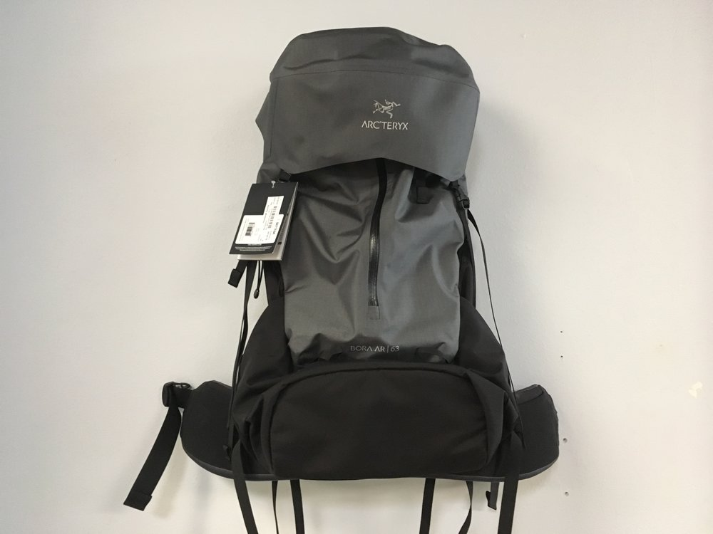 What a score! The Arcteryx Bora AR 63  leverages hybrid materials and advanced hip-belt technology for a more natural stride that reduces chafing and improves balance. Retail for the Bora is listed at $550 but we can get you backpacking for $329!