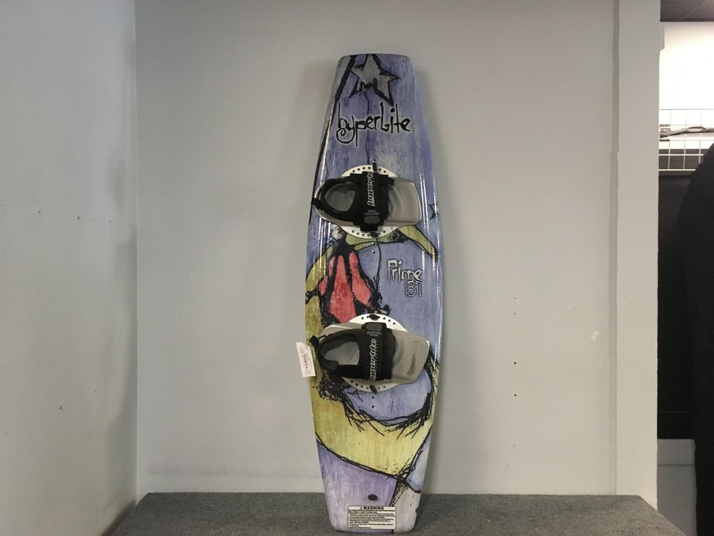 Get the little ones out on the lake with Hyperlite's Prime 131! The Prime is the perfect beginner board to learn how to carve on the water. Retail for the board is listed around $300 but we can get you cruising for $149!