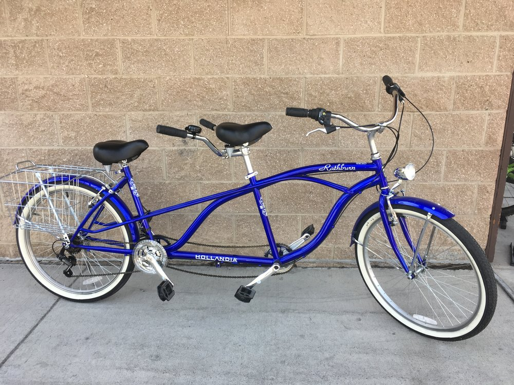 Dominate the bike path with this awesome tandem bike from Hollandia! The bike retails for $375 but we can get you cruising for $174!