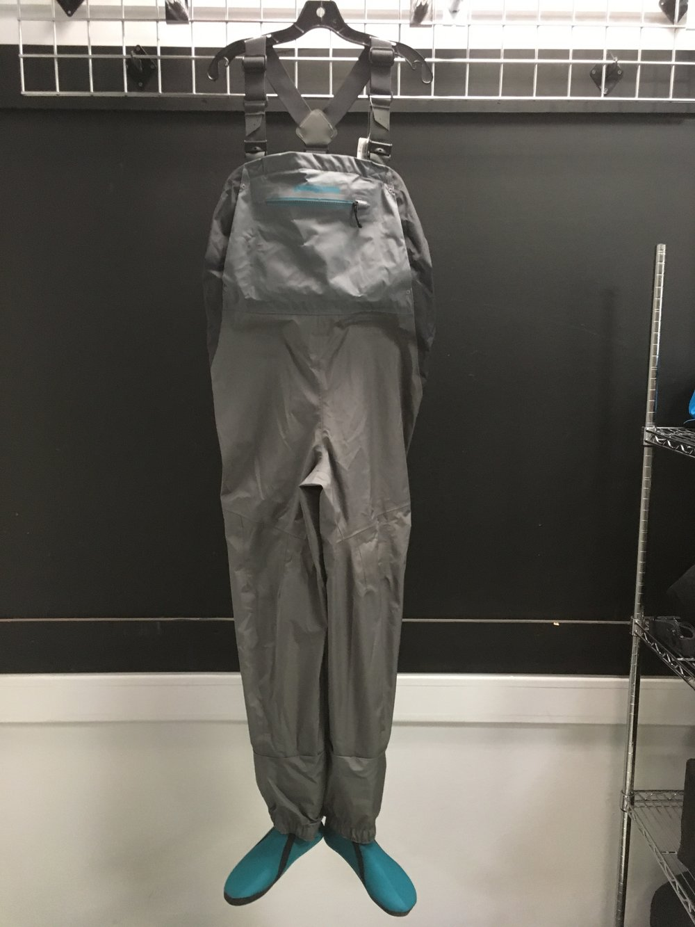 Patagonia's Spring River Waders are designed specifically for the female angler! The waders feature H2no fabric, fully sealed seams, and a reach-through hand warmer pocket. Retail for the waders are listed at $400 but we can get you out in the water for $199! The size is a women's large.