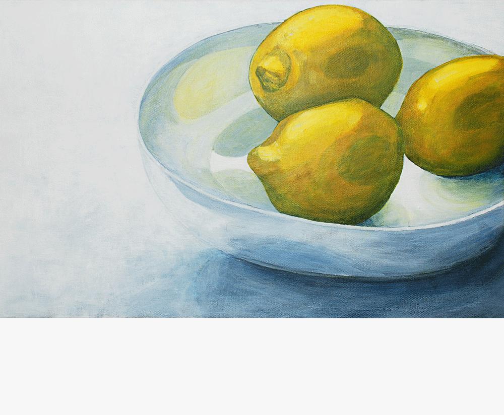 Bowl of Lemons Acrylic on canvas | 485 x 300mm