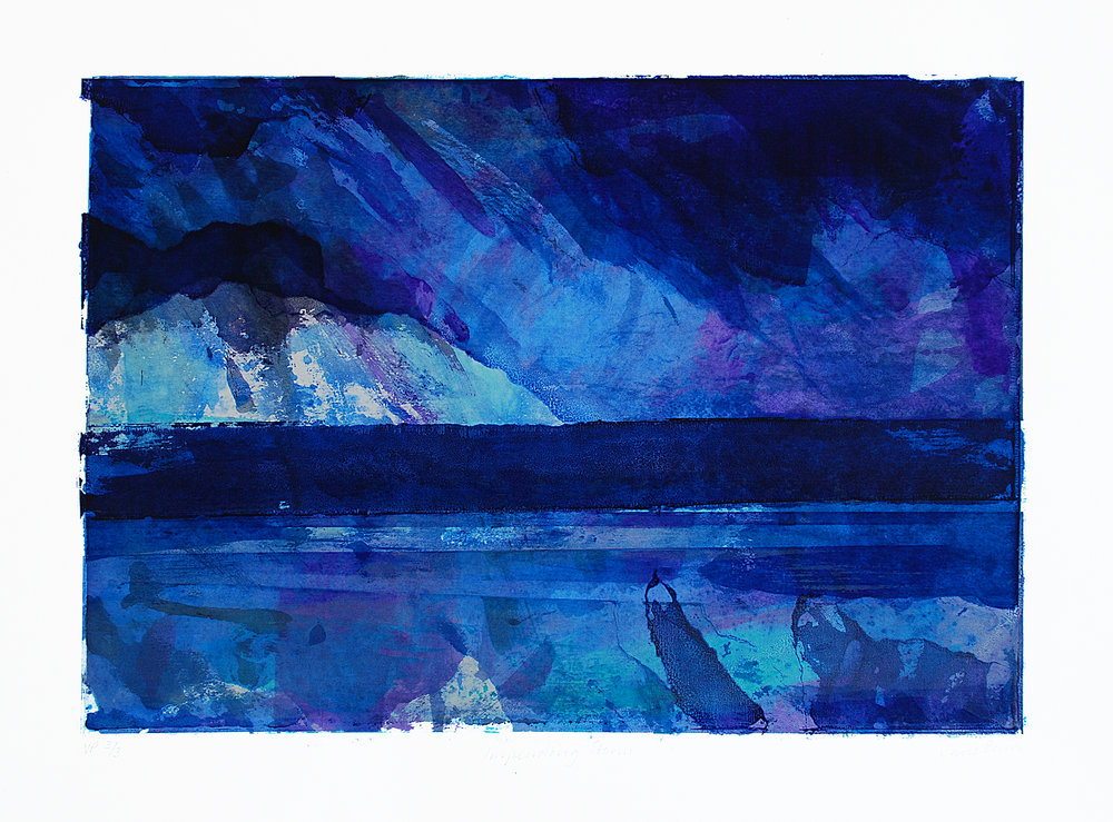 The Storm Variable monoprint
