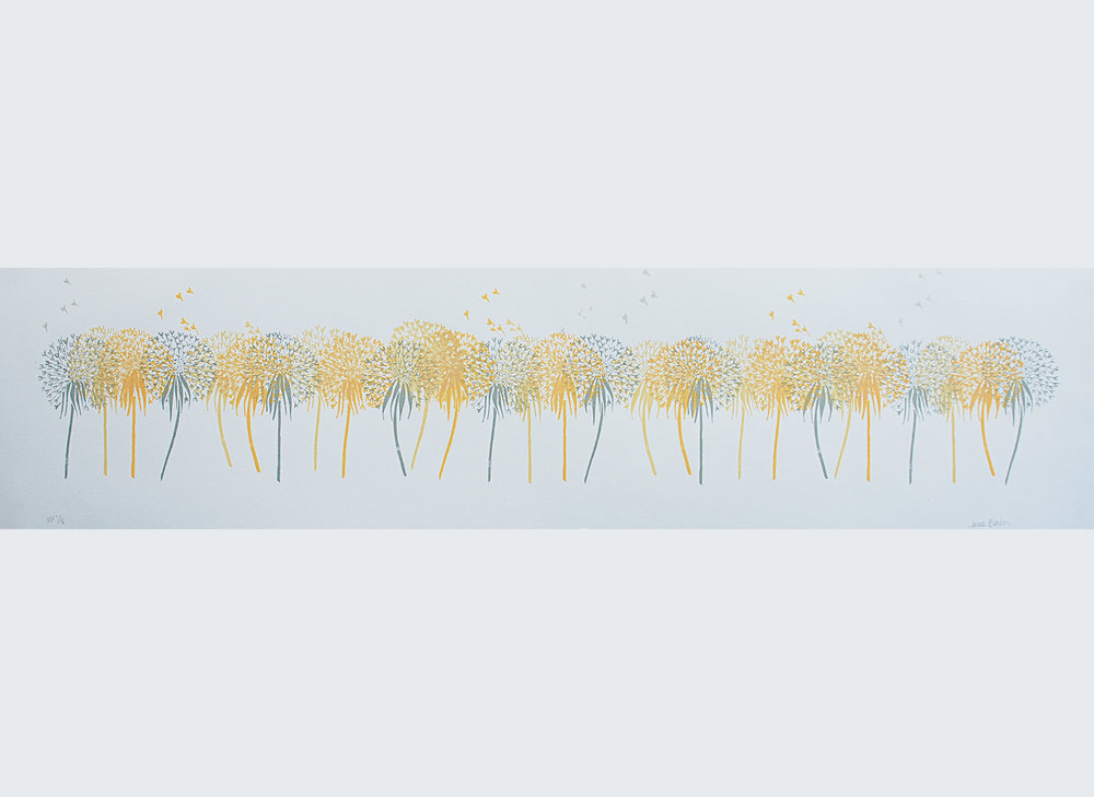 Dandelion Field Variable monoprint