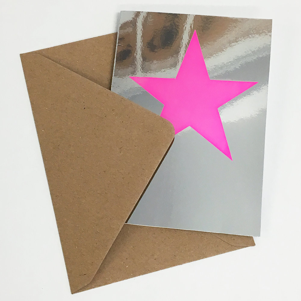 Jane Bain_Star card pink_silkscreen print.jpg