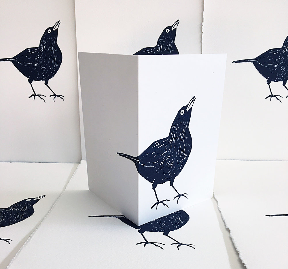 Jane Bain_Blackbird cards_silkscreen print.jpg