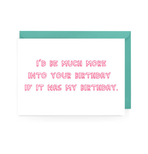 Into Your Birthday Card