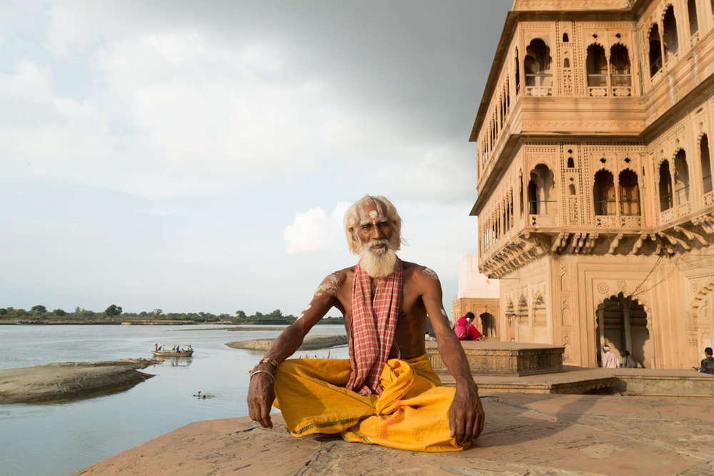 india spiritual tour package - Vrindavan local man.jpg