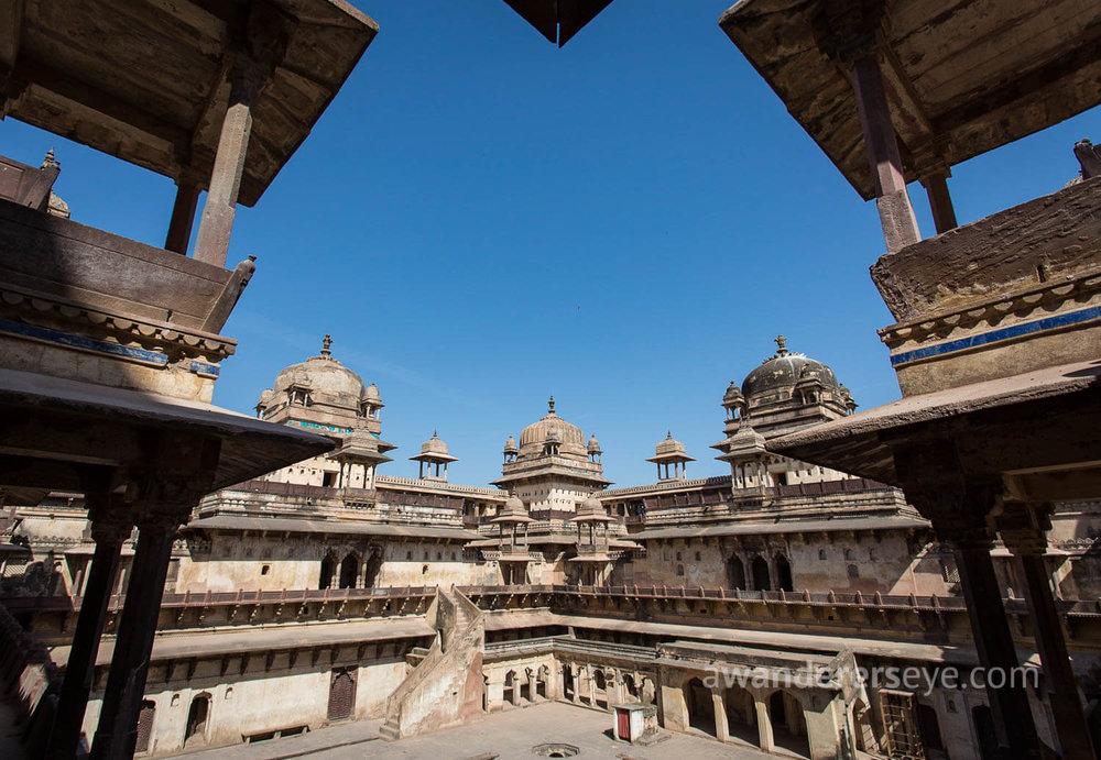 Palace ruins in Orchha, Madhya Pradesh
