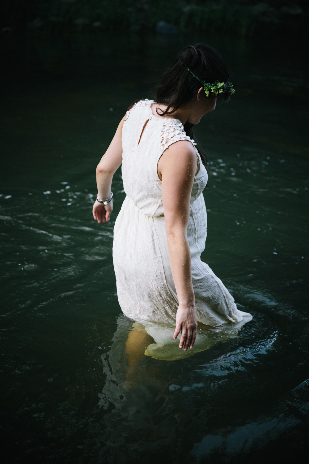 Katrina: maternity session | Eno River in Durham, NC | Merritt Chesson Photography