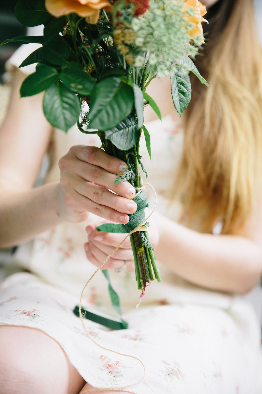 DIY Wedding Flowers | Asheville, NC | wedding photographer | Merritt Chesson Photography
