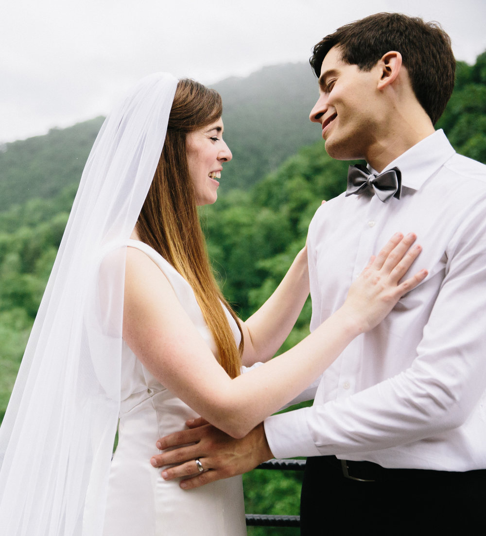Intimate Mountain Wedding | Castle Ladyhawke, NC | wedding photographer | Merritt Chesson Photography