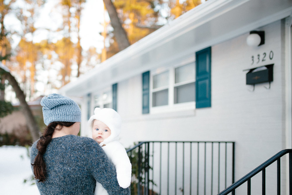 Søren's First Snow | baby photographer, family photographer | Durham, NC | Merritt Chesson Photography
