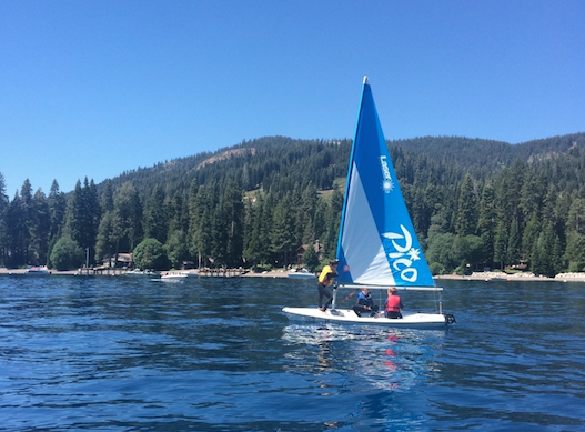 Club members participating in Sailing Camp