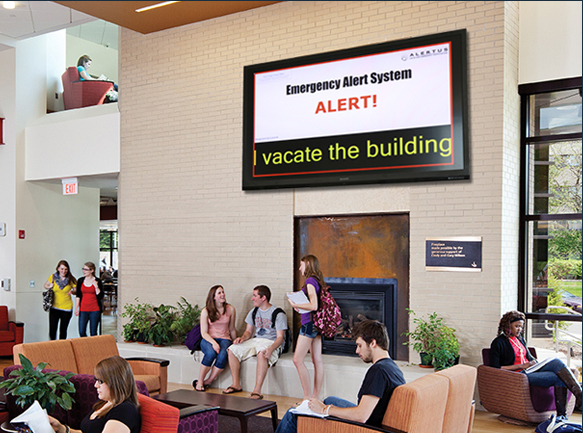 Digital Signage Override for Emergency Mass Notification