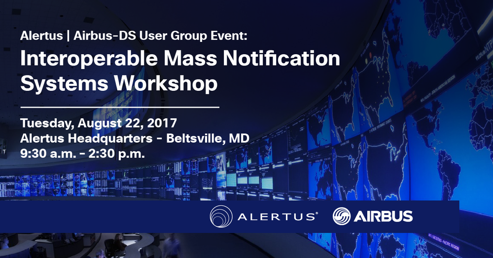 Alertus Seminar Series: Interoperable Mass Notification Systems Workshop with Airbus