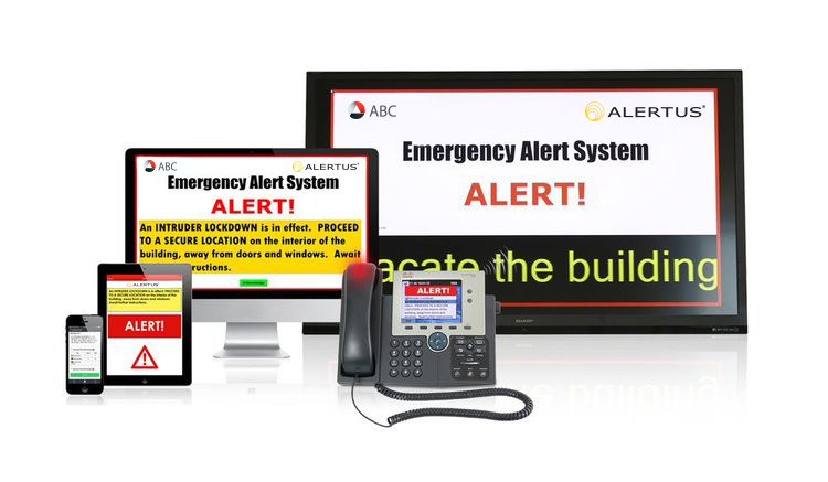 For organizations without existing public address systems, the Alertus System provides a cost-effective yet highly efficient solution that leverages commonly found technologies to create a wide-reaching notification system. The Alertus System can turn VoIP phones, desktop and laptop computers, digital signage, and mobile phones into effective alerting modalities.