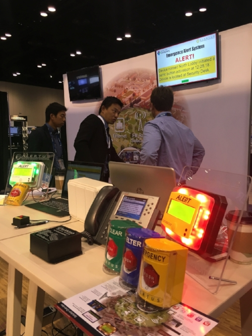 Our notification products on display during last year's successful appearance at ASIS in Orlando, FL
