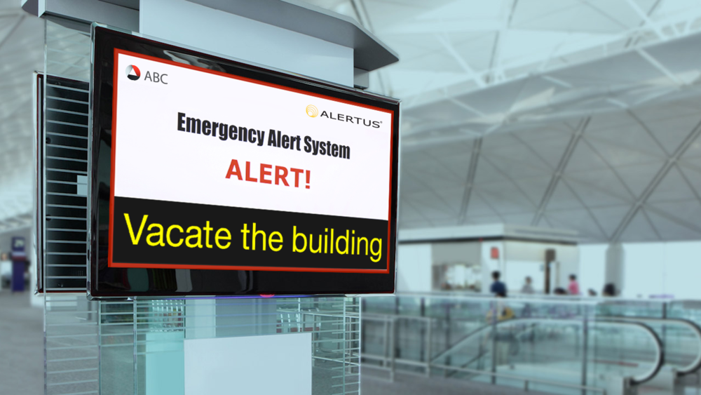 Alertus Mass Notification System for Airports