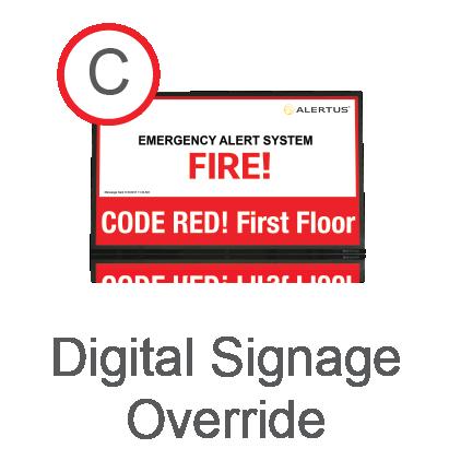 Digital Signage Override