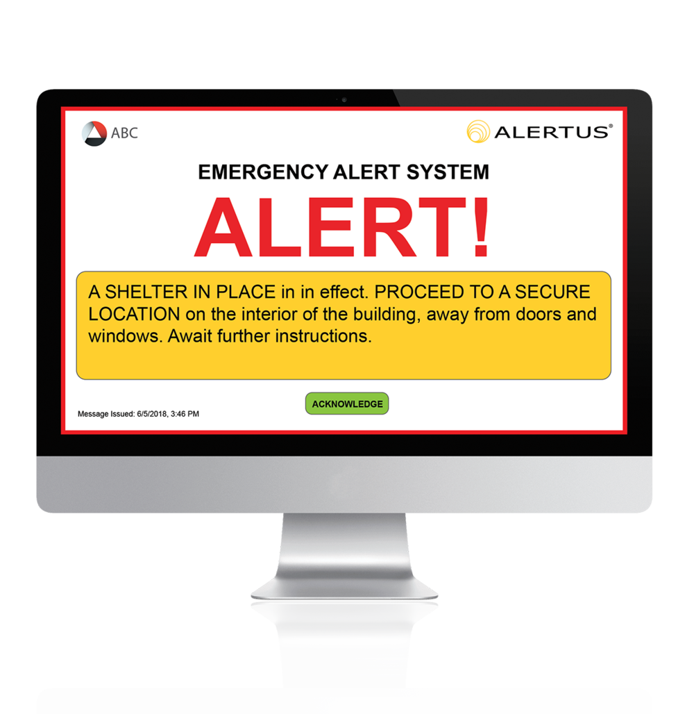 Alertus Desktop Notification