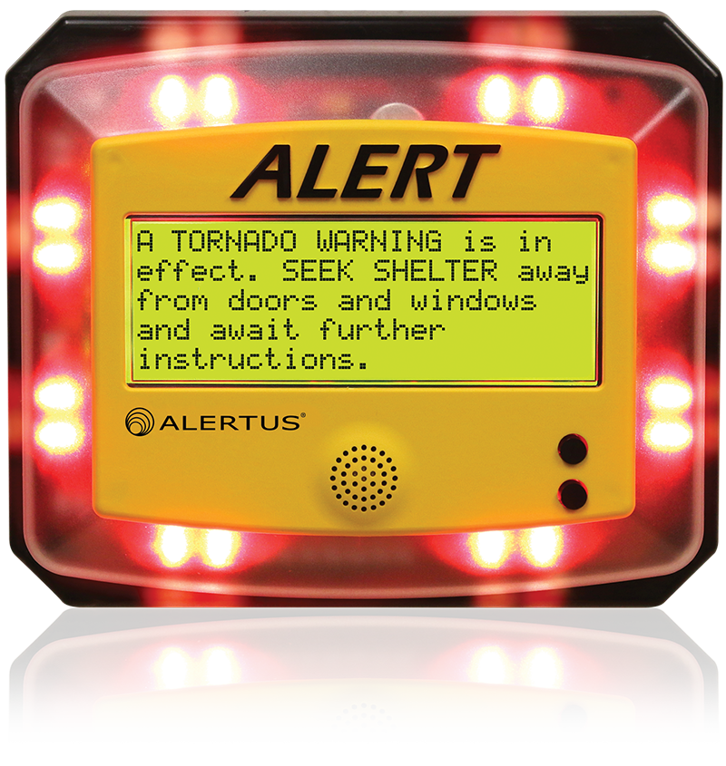 Higher education institutions use the Alertus Alert Beacon throughout academic, residential, recreational, and administrative settings
