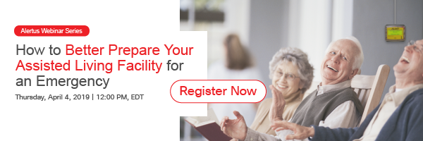 Webinar for emergency notification in assisted living facilities