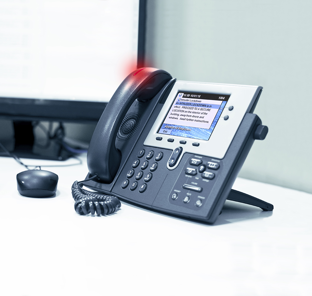 Alertus' VoIP & IP phone notification solution transforms office phones into a unified emergency communication system