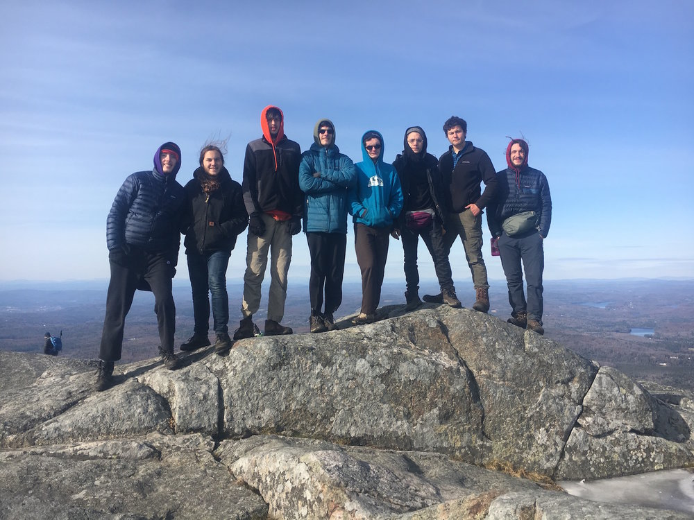 the Fall '18 cohort at the summit of our neighbor mountain, Mt. Monadnock