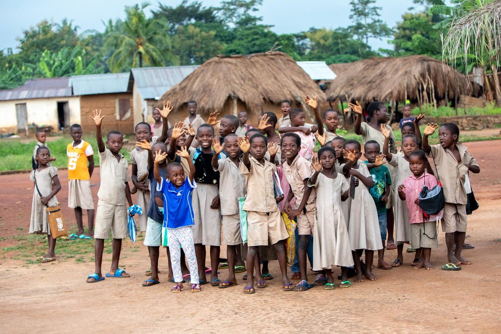 Yomekin village, Kévé, Togo.