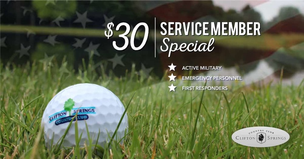 discount golf for service members banner