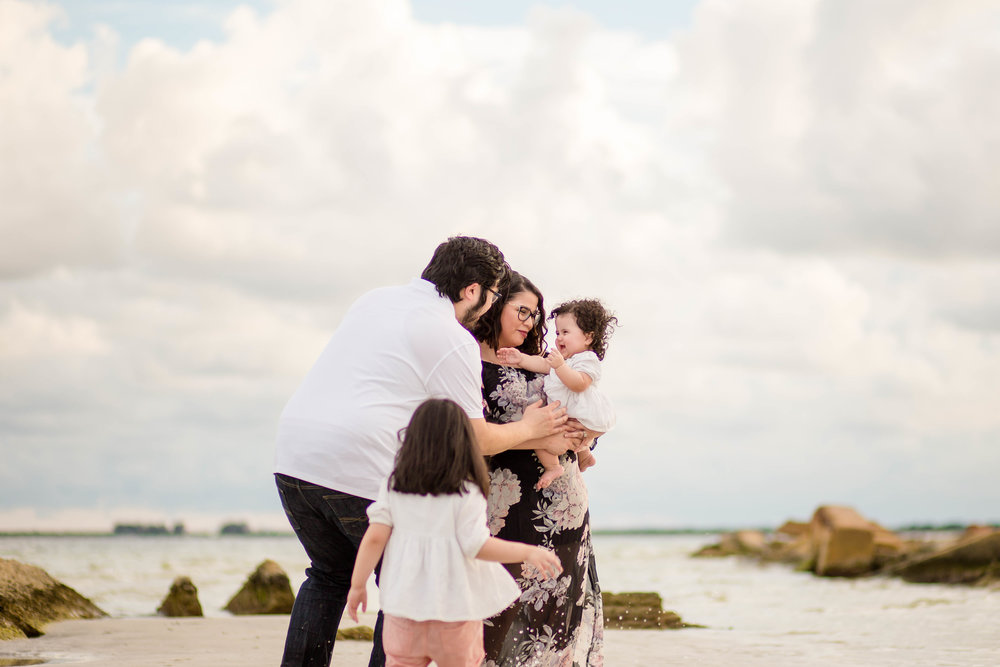 beach family session, fort desoto beach