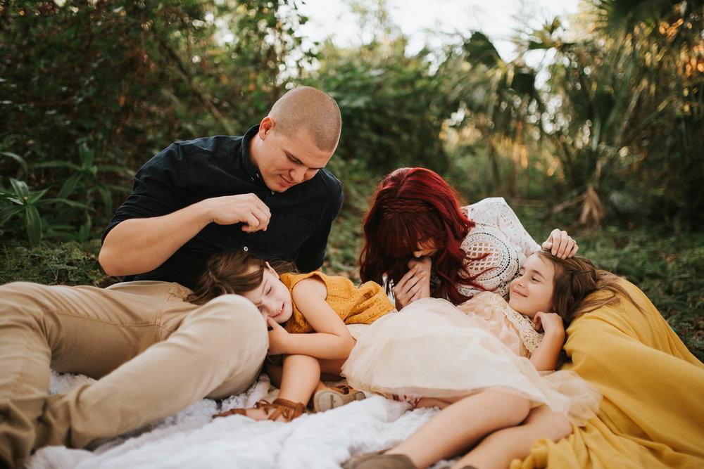 lake seminole family session