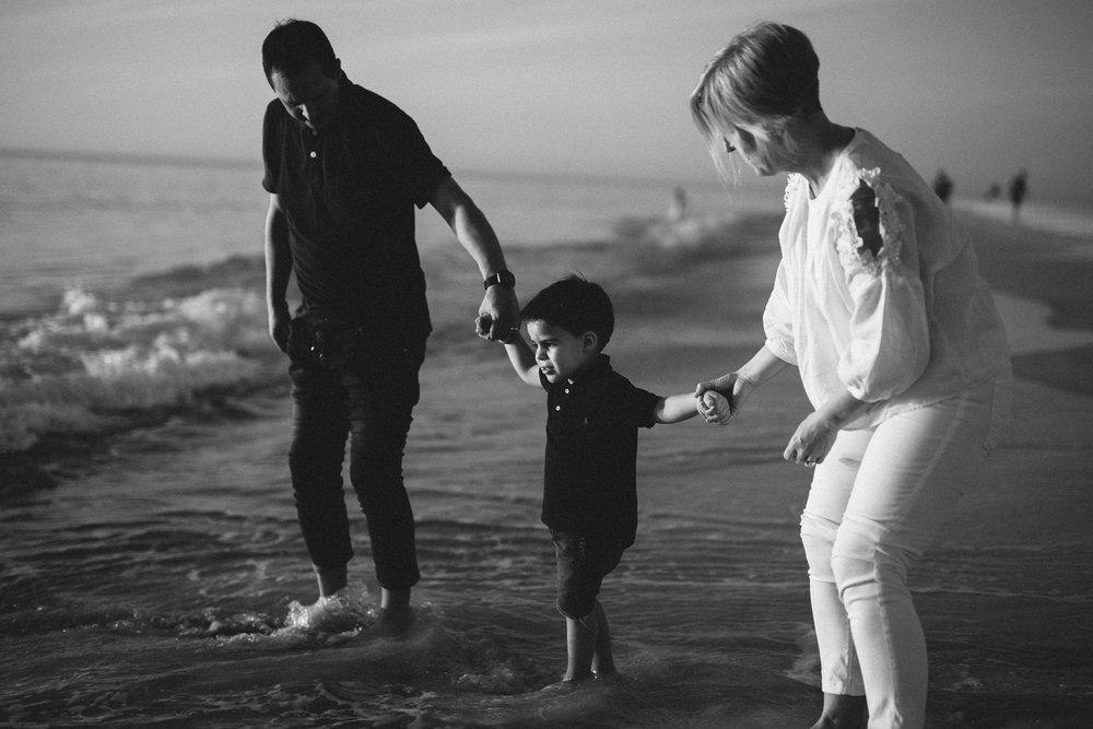 beach family session, bradenton fl