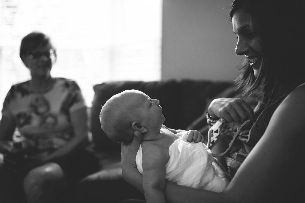 in home newborn photo shoot, st pete fl