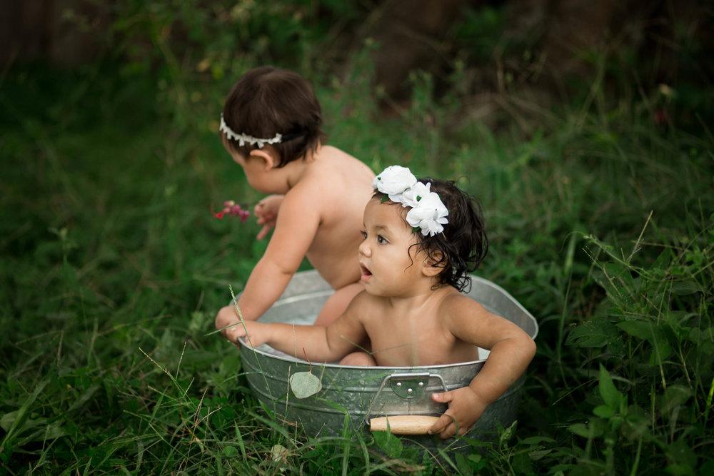 outdoor milk bath photo shoot, tampa bay