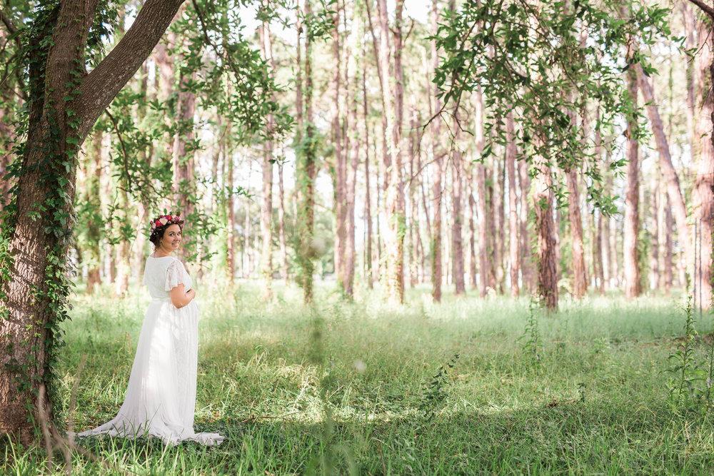 woodsy maternity photo, largo fl